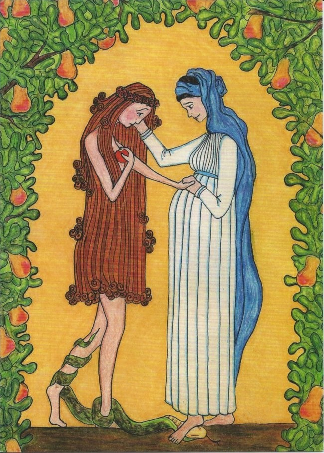 Mary Consoles Eve