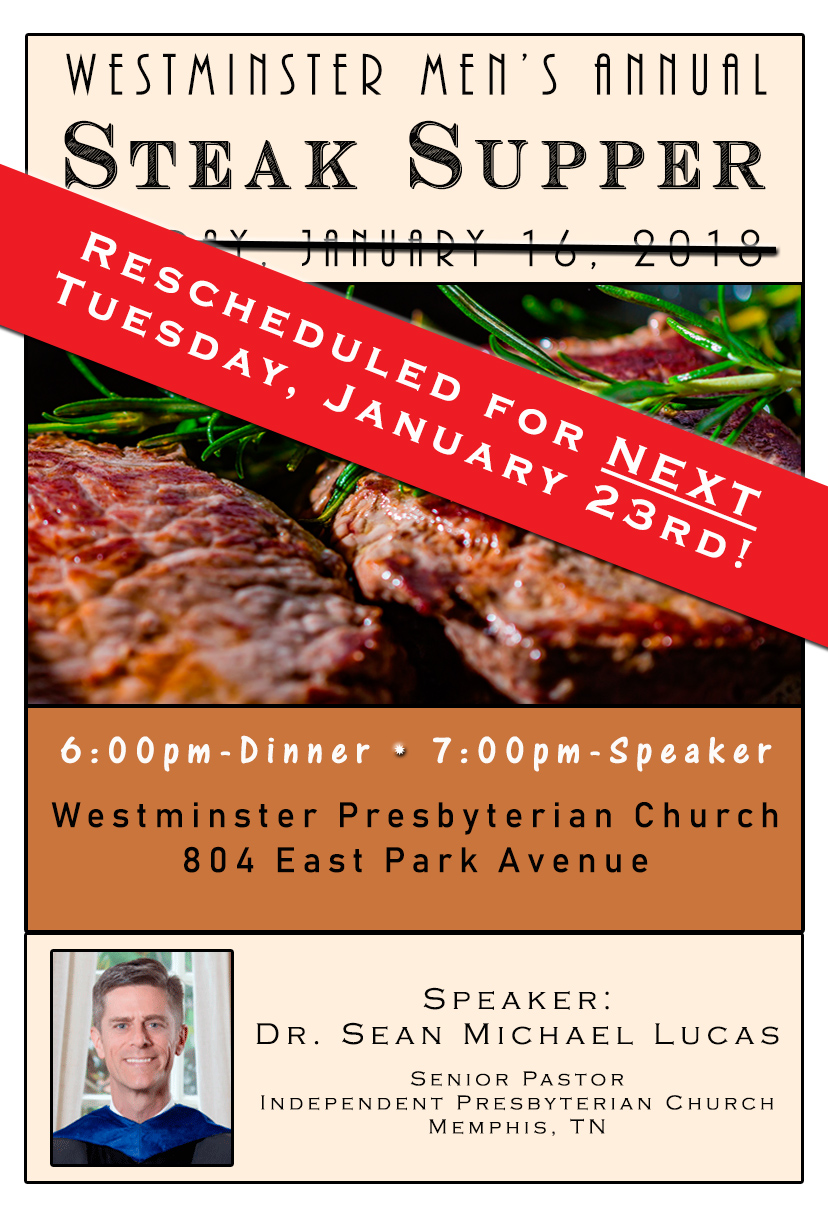 Steak Supper Flyer 2018 Reschedule