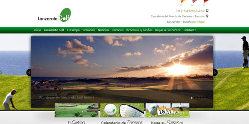 Diseño web Lanzarote Golf Resort