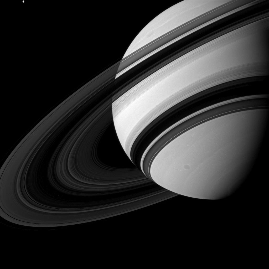 Tiny Tethys (NASA Cassini Saturn Mission Images)