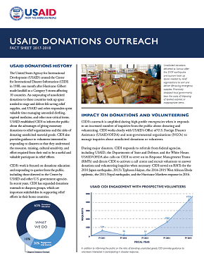 USAID CIDI Donations Outreach Fact Sheet