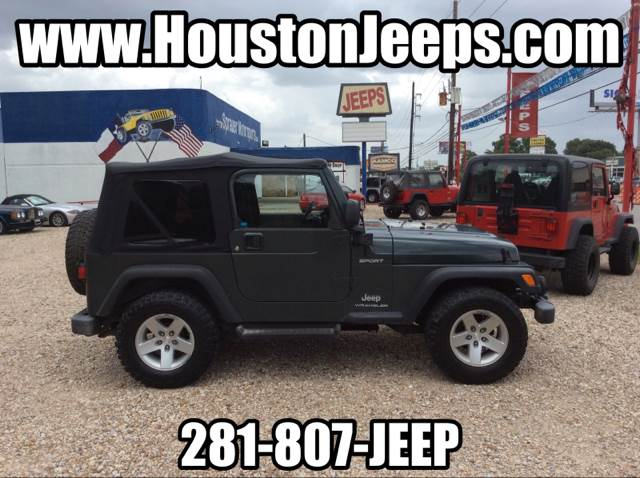 2004 jeep wrangler for sale in houston tx. Black Bedroom Furniture Sets. Home Design Ideas