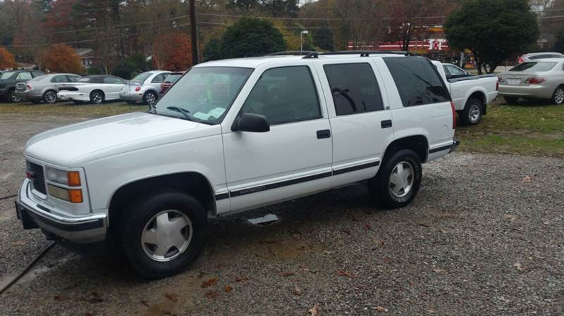 1998 gmc yukon for sale in raleigh nc. Black Bedroom Furniture Sets. Home Design Ideas