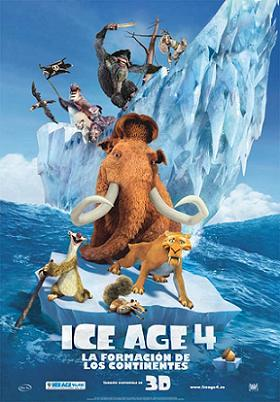 Crítica cine - Ice Age 4 - cartel poster