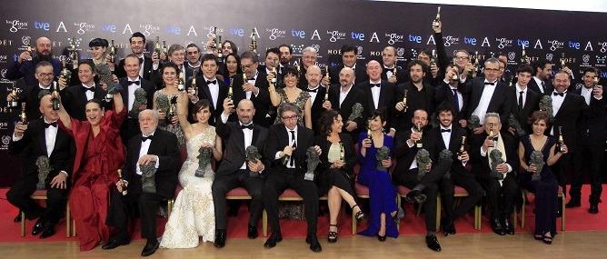 28 EDICIÓN PREMIOS GOYA_foto ganadores