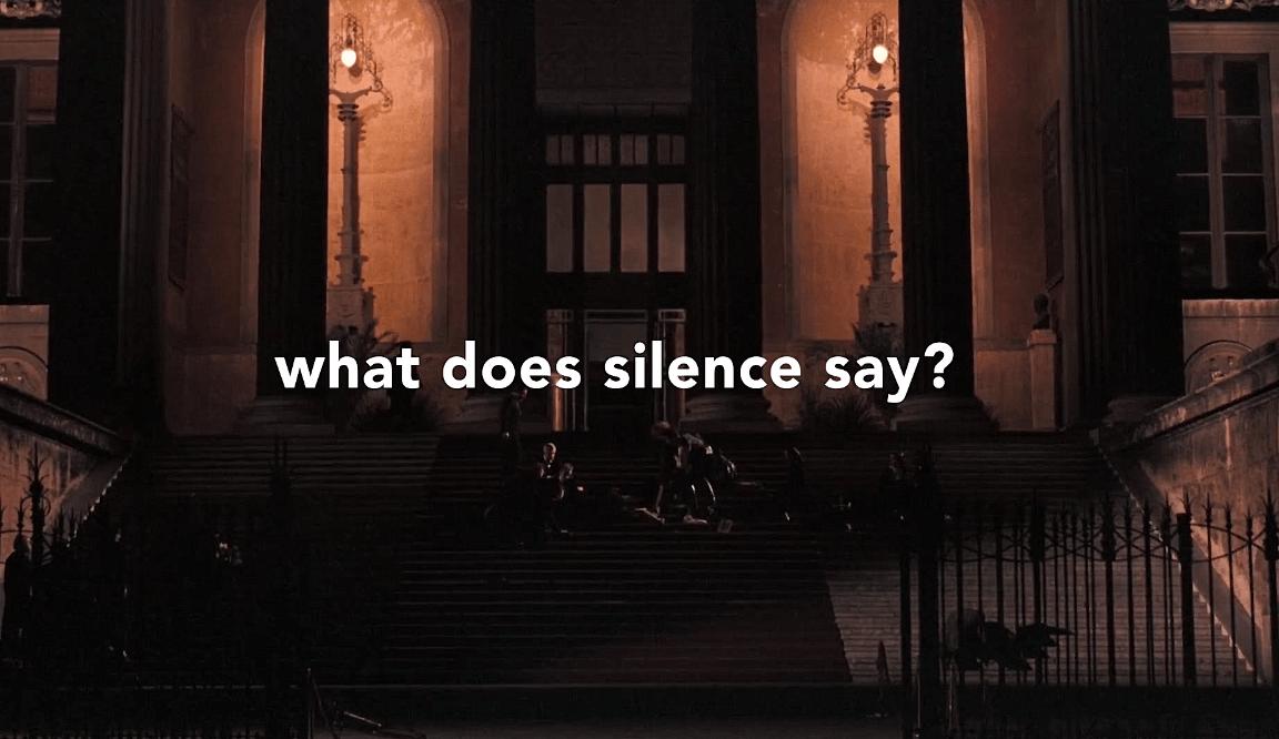 Cuando no hay palabras en las películas