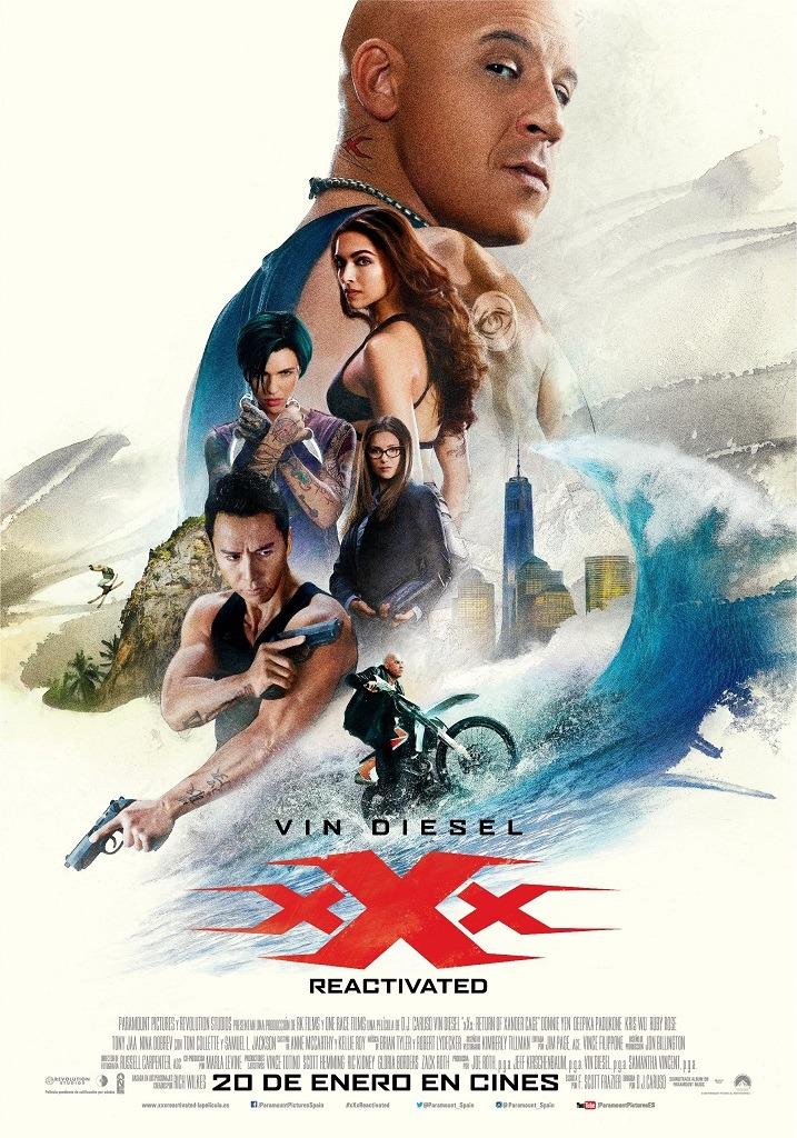 Cartel Poster de 'XxX: Reactivated'