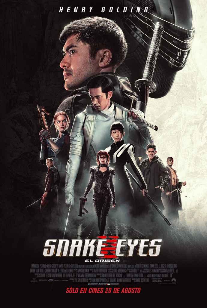 Snake eyes el origen poster