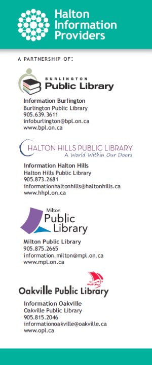 Halton Community Services Rack Card - Back