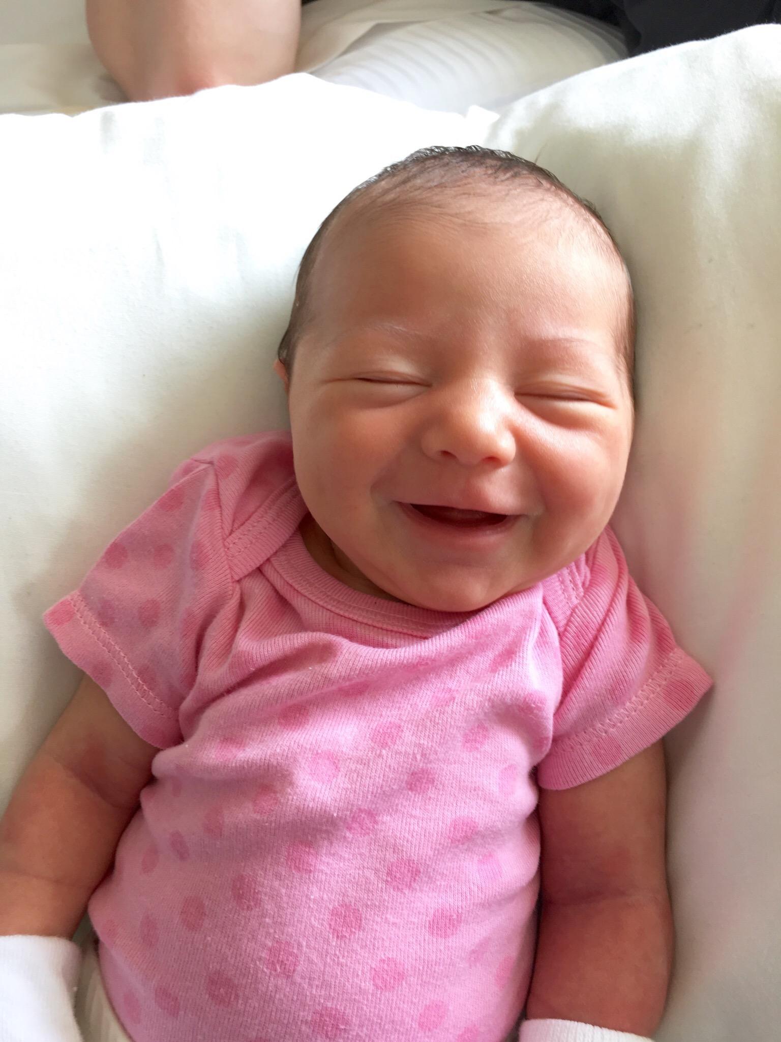 Baby Ines smiles