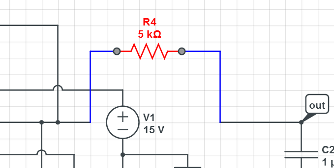"Smart Wires in action - connected ""do the right thing"" when you drag an element."