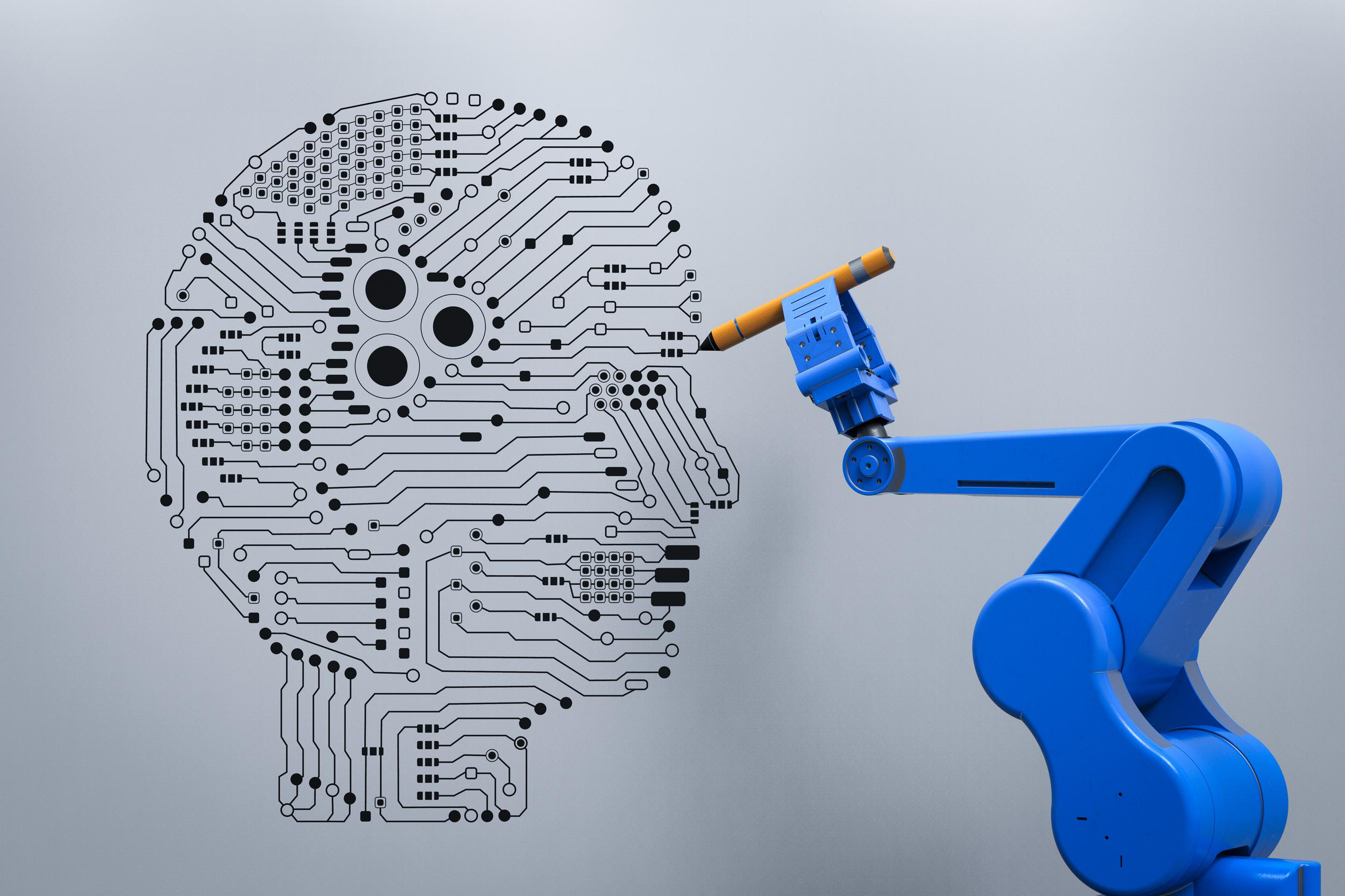 robot with ai brain