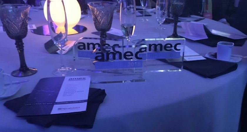 Cision celebrates a golden night at the AMEC Awards Cision celebrates a golden night at the 2018 AMEC Awards.png