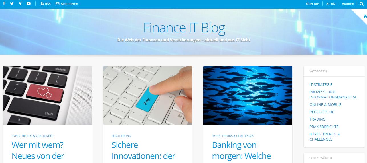 Fintech - 7 empfehlenswerte Blogs aus Deutschland