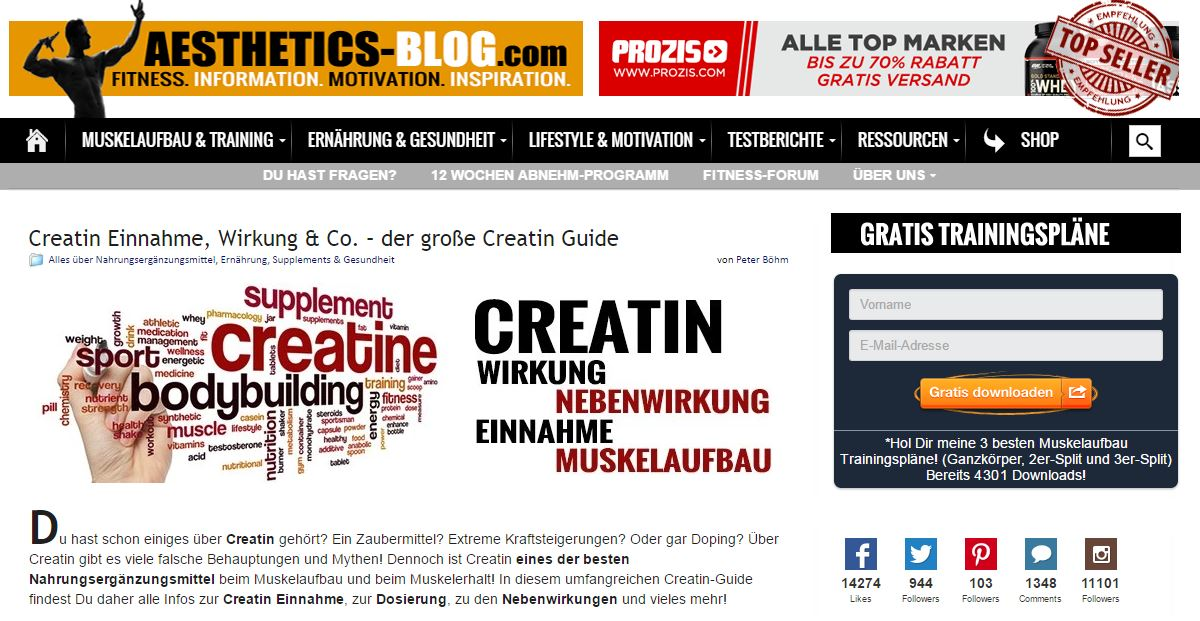 Fitness & Laufen - 10 deutsche Blogs, die Sie motivieren werden