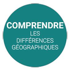 différences géographiques