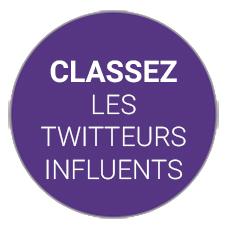 Classement des influenceurs