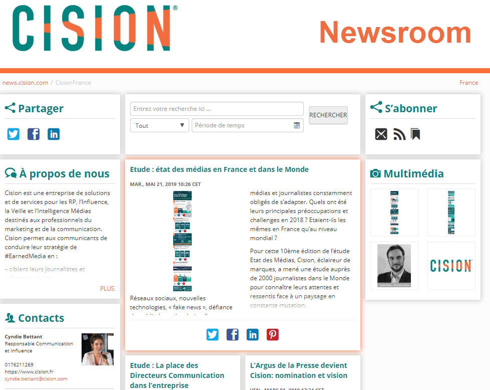Newsroom Cision