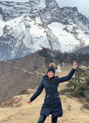 Hannah Hodges at Mount Everest