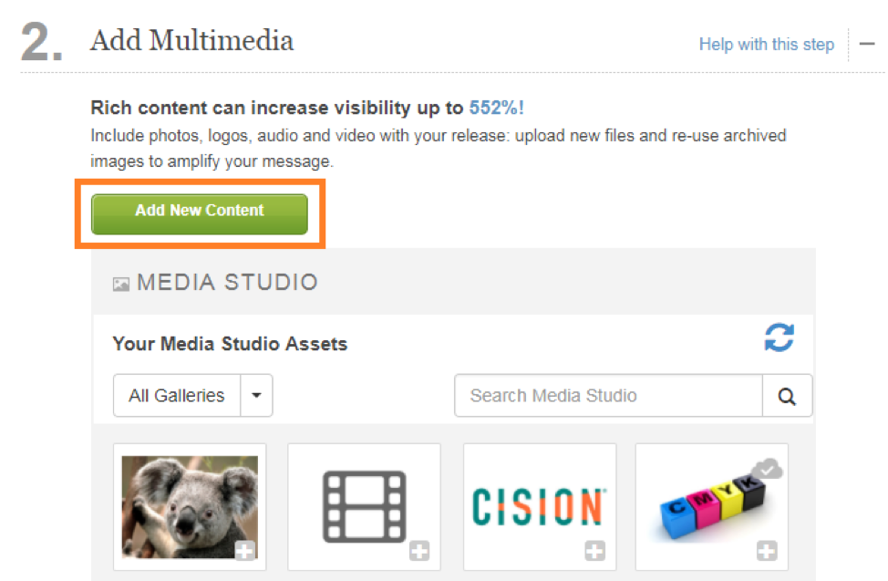 Add Multimedia to Press Release