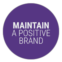 Maintain a Positive Brand