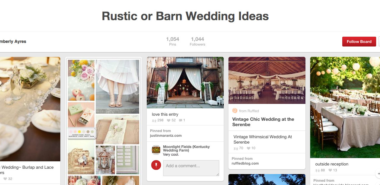 Pinterest Rustic Wedding