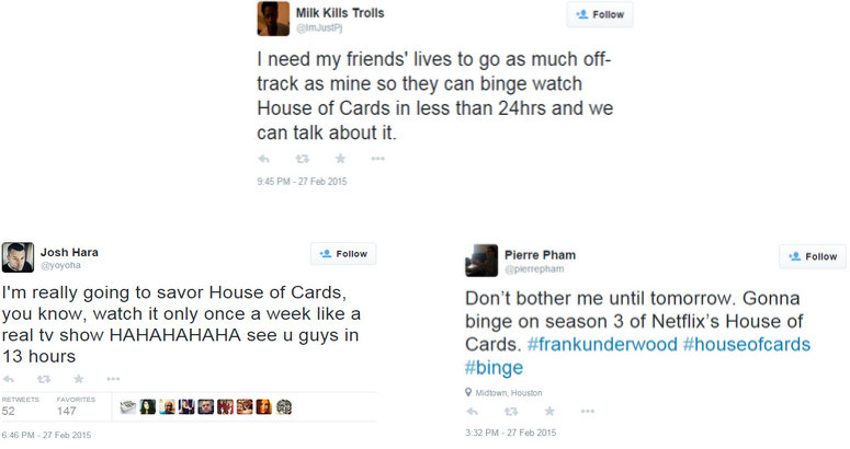 House of Cards Tweets 2-4