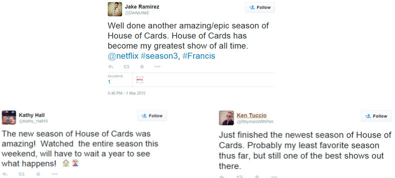 House of Cards Tweets 9-11