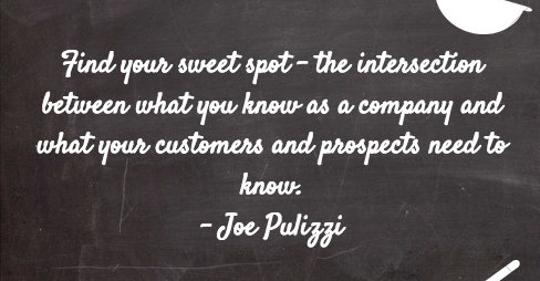 Joe Pulizzi - Find Your Sweet Spot - Social Media Marketing World 2015