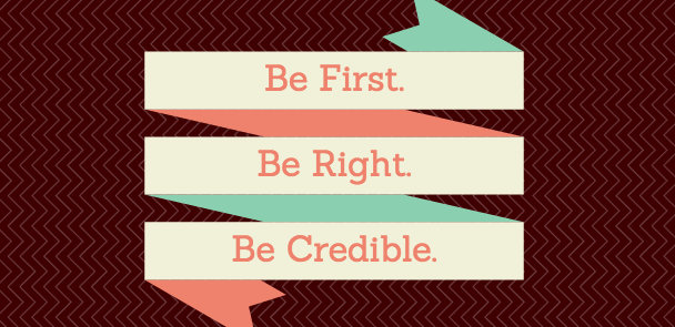 First, Right, Credible - Content Marketing in Health Care