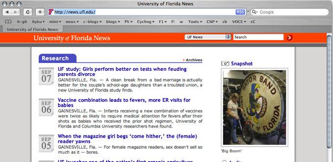 University of Florida Online Newsroom
