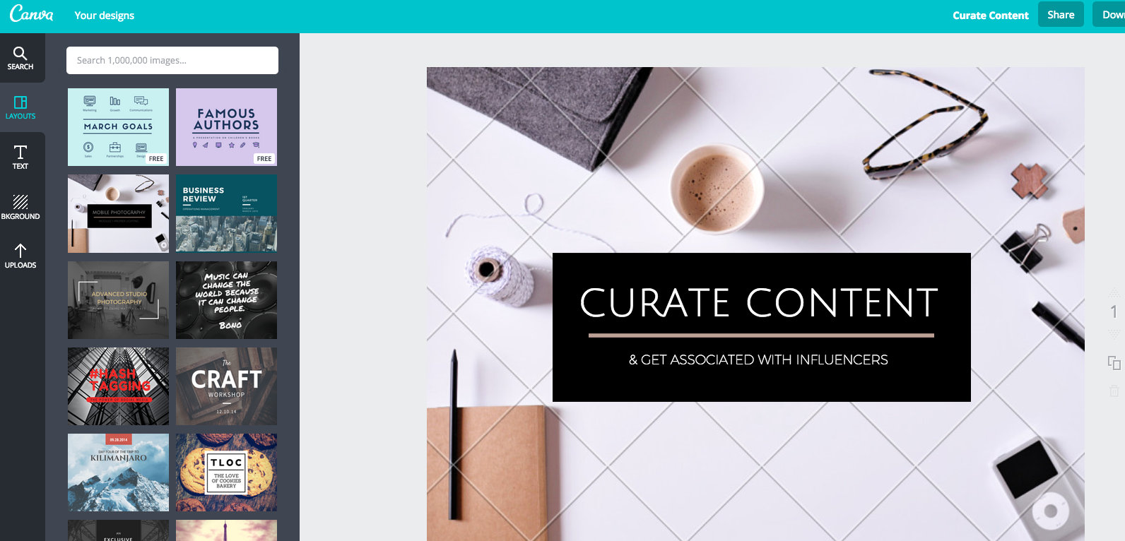 Canva - Graphics for Blog - Content Marketing Tools