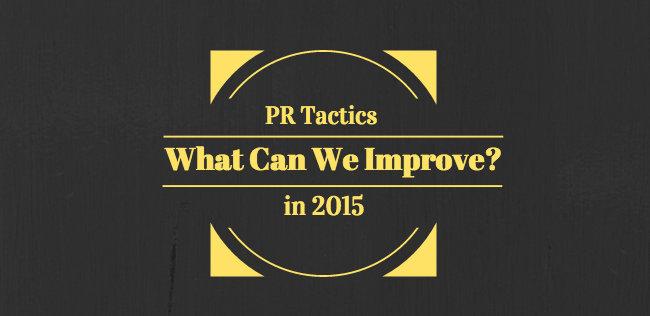 PR Tactics 2015