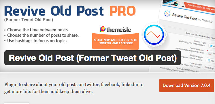 Revive Old Post - Content Marketing Tools to Drive Blog Traffic