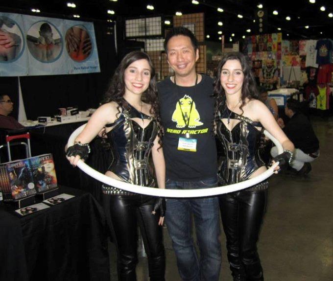 John Nguyen with The Winner Twins