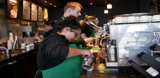 Starbucks-baristas
