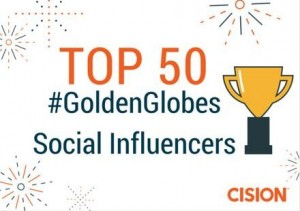 The Top 50 #GoldenGlobes Social Influencers on Twitter
