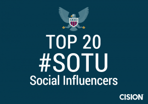 The Top 20 #SOTU Social Influencers on Twitter