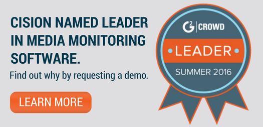 Cision Named Media Monitoring Leader