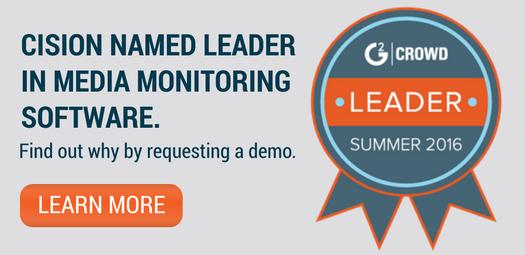Cision Named Media Monitoring Leader