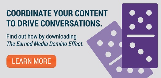 earned media domino effect CTA