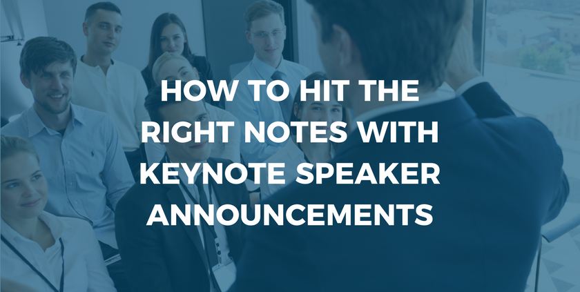 Keynote Speaker Announcemnets