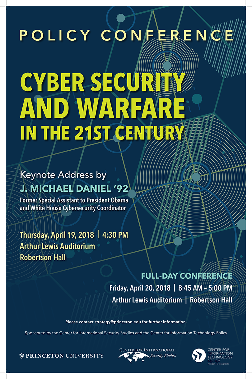 64d932d244 Conference  Cyber Security and Warfare in the 21st Century » Center for  Information Technology Policy