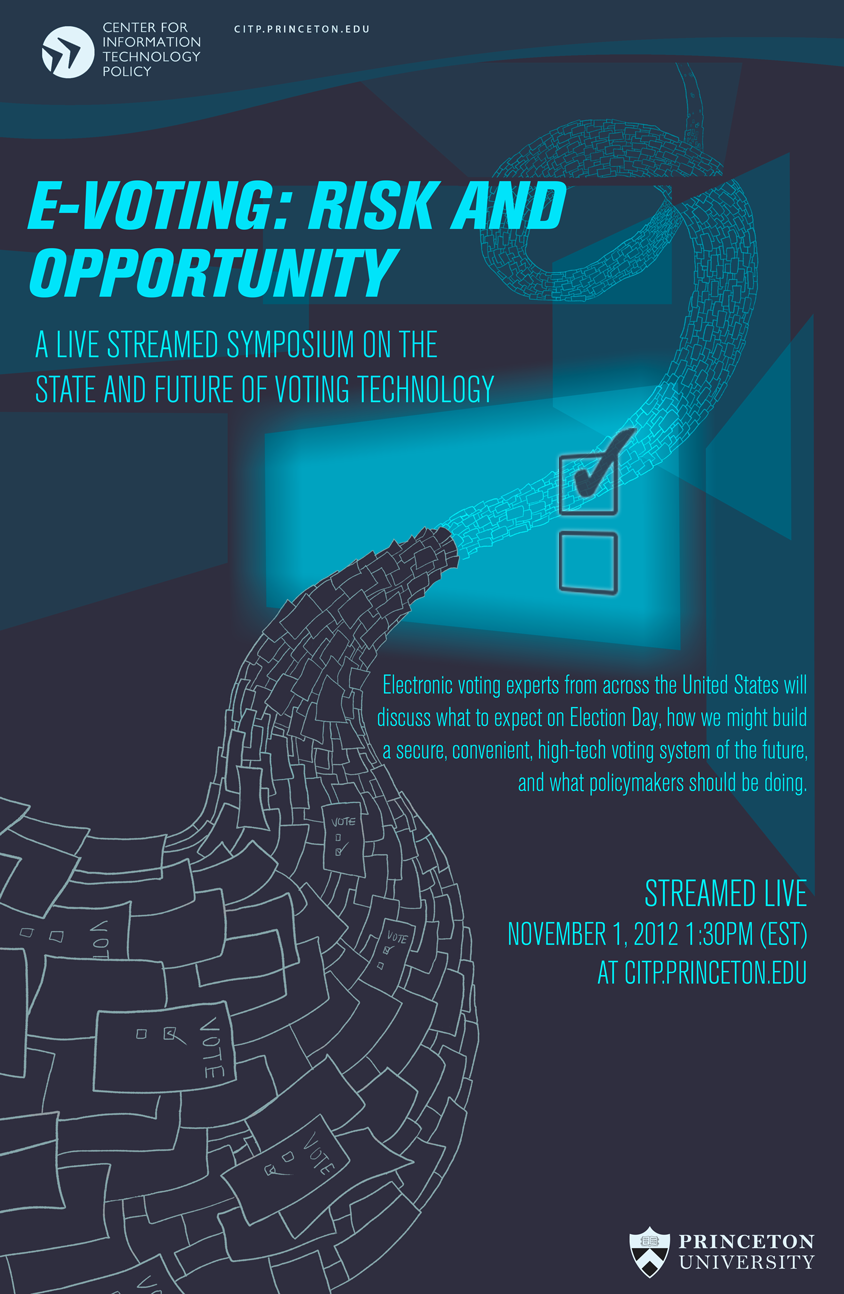 voting opportunity technology poster risk event center november information evoting events states policy thursday pm
