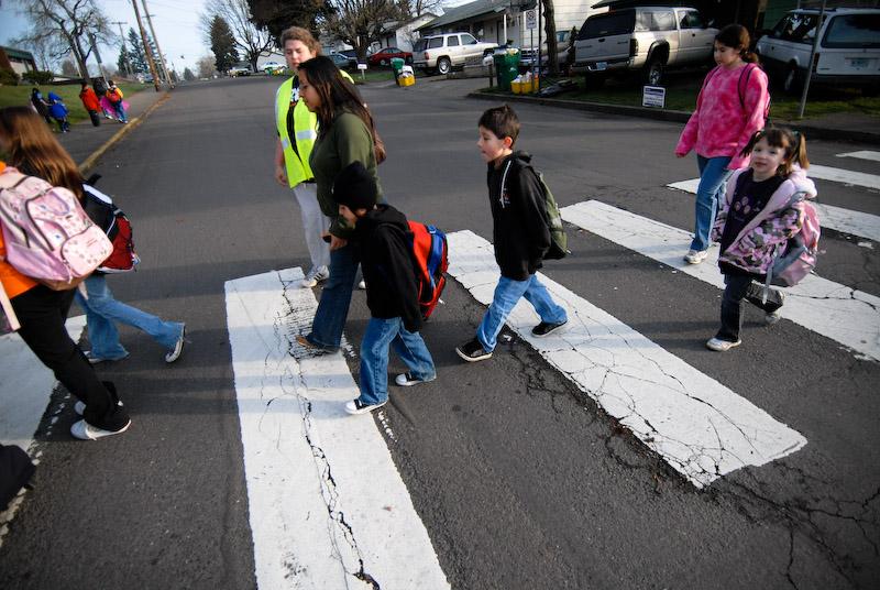 kids at crosswalk