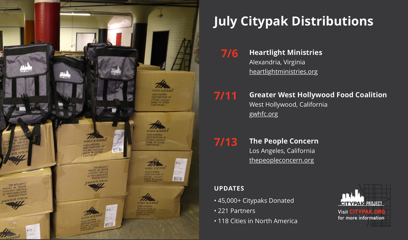 July citypak distributions