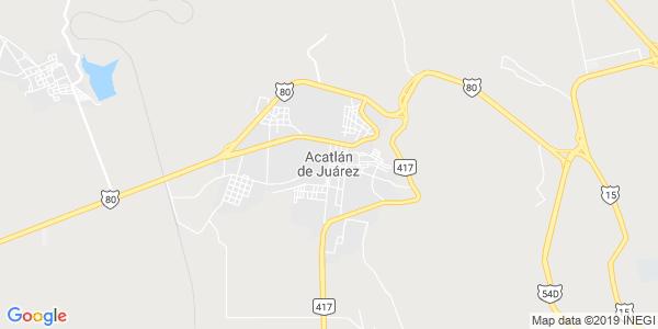 Mapa de ACATL�N DE JU�REZ