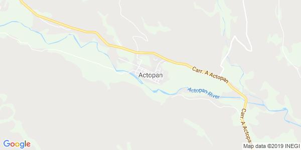 Mapa de ACTOPAN