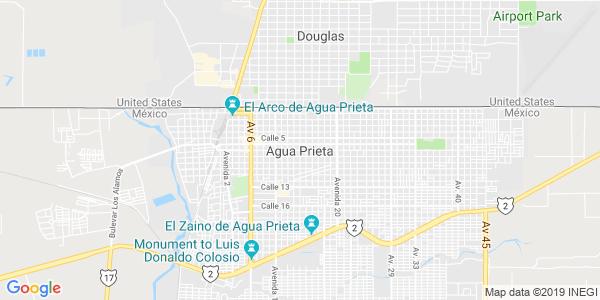 Mapa de AGUA PRIETA