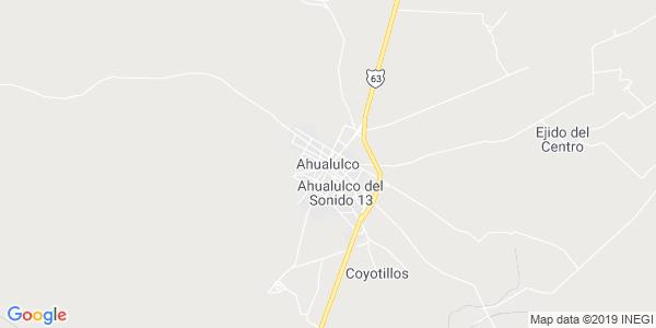 Mapa de AHUALULCO